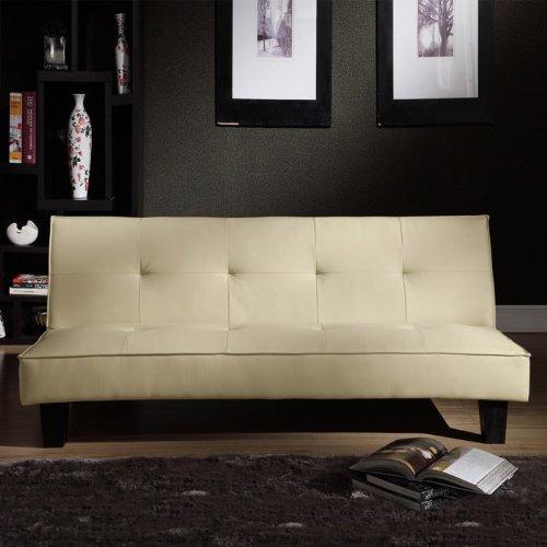 Faux Leather Mini Sofa Bed