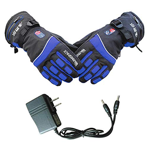 cherrysong Electric Heated Gloves,Heated Gloves for Men and Women with Electronic Rechargable Battery, Third-Level Heating Gloves for Motorcycle Ski Snow Warmer Mitten Glove Arthritis
