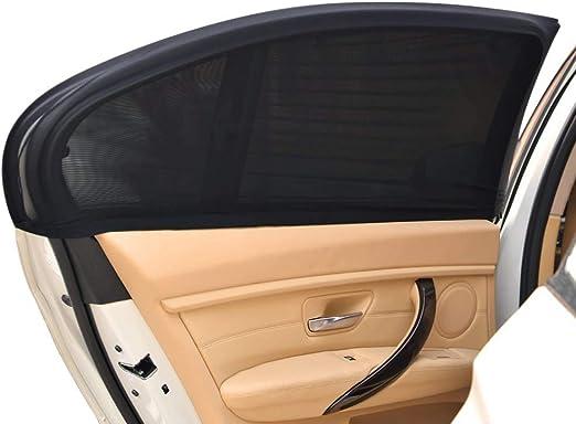 Amazon.com: ReacHS Parasol para ventana de automóvil, para mujeres, para mascotas, malla transpirable, protección solar contra rayos UV, se adapta a la mayoría de vehículos y camionetas, 2 unidades, Parasol lateral trasero.: Automotive