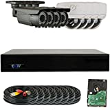 GW Security 1080P HD-CVI 8 Channel Video Security Camera System - Eight 2MP Weatherproof 2.8-12mm Varifocal Zoom (4) Bullet & (4) Dome Cameras, 196FT IR Night Vision, Pre-Installed 2TB HDD