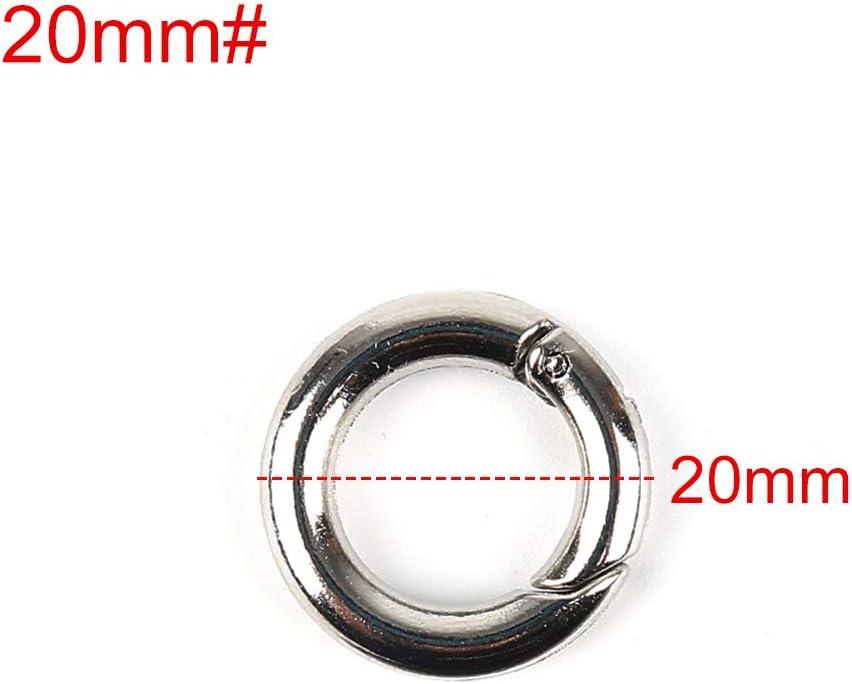 Ringe Schl/üsselanh/änger B/ücherring 18 mm #01//18mm Karabinerhaken Ring-Karabiner Karabinerhaken MENGZHEN 2 x Buchringe
