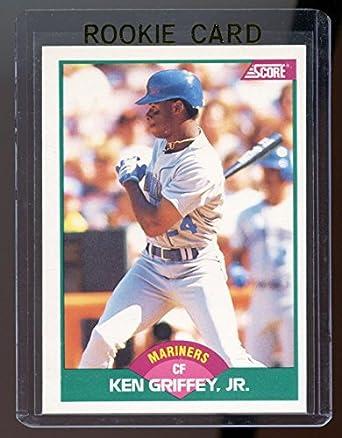 d7eb7ec07b 1989 Score Rookie/Traded #100T Ken Griffey Jr. Mariners RC Rookie Card -