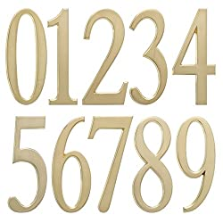 "Whitehall 4.75"" Number Satin Brass"