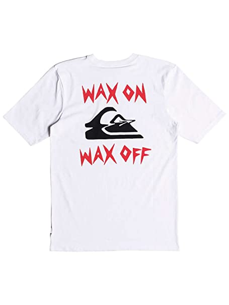meer foto's hele collectie enorme korting Amazon.com: Quiksilver Wax Job Short Sleeve T-Shirt Small ...