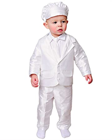 f06a8fe9b Image Unavailable. Image not available for. Color: Mitchell 12 Month Silk  Christening or Baptism Suits ...