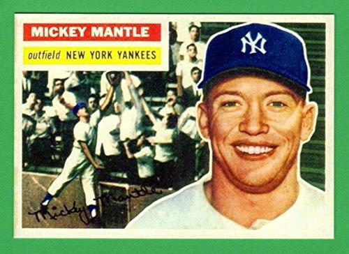 Mickey Mantle 1956 Topps Baseball Reprint Card ***MVP YEAR*** - Topps 1956 Baseball