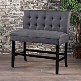GDF Studio 300883 Paddy Tufted Back Fabric Barstool Bench (Dark Charcoal Review