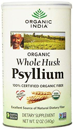 Organic India Whole Husk Psyllium, 12-Ounce (Pack of 2) (Forming Fiber Laxative)