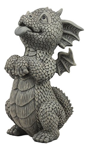 Ebros Whimsical Garden Dragon Begging for Attention Statue 10.25