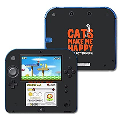 Amazon.com: Skin para Nintendo 2DS – Gatos Make Me Happy ...