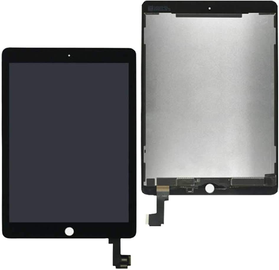 LCD Touch Screen Digitizer Assembly Replacement for iPad Air 2 A1567 A1566 +Free Tool +Tempered Glass(Black)