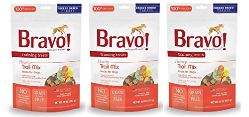 (Bravo! Freeze Dried Trail Mix Training Treat for Pets, 4-Ounce - 3 PACK)