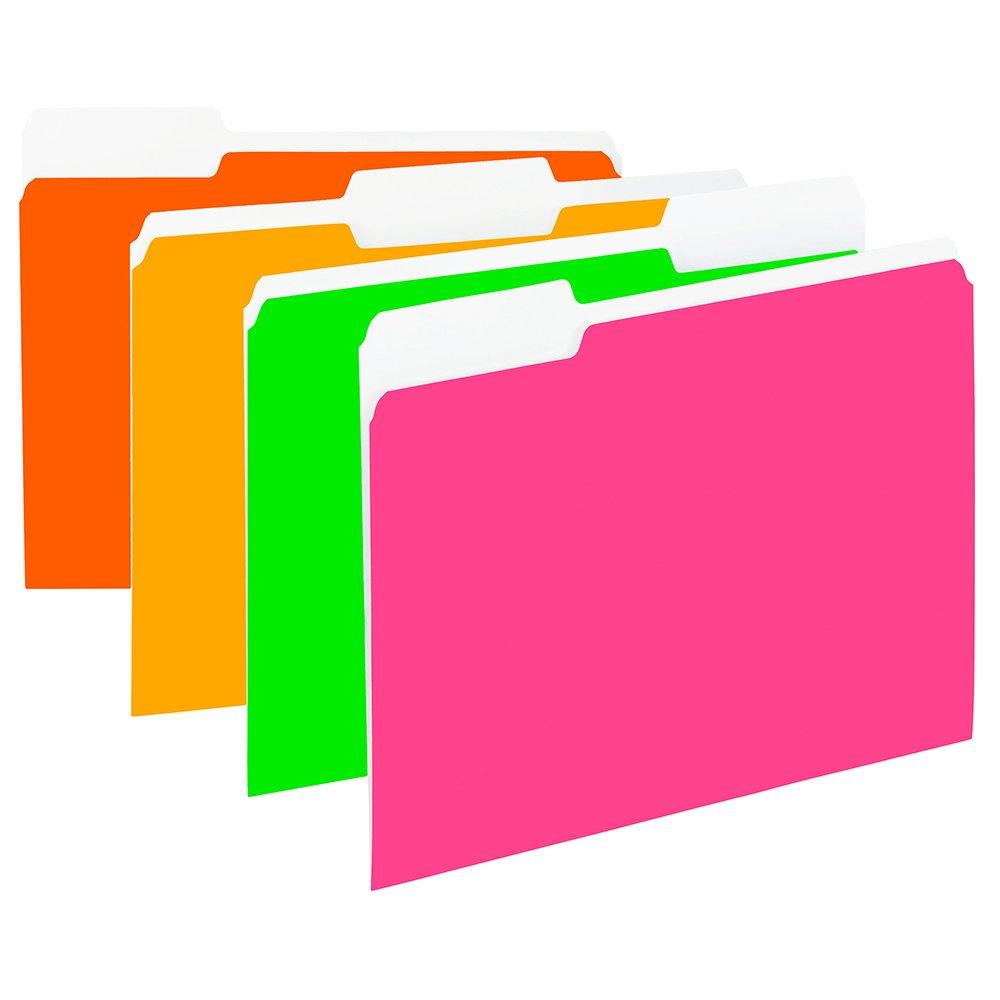 Amazon.com : Smead File Folder, 1/3-Cut Tab, Letter Size, Assorted ...