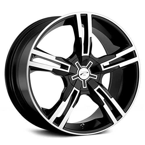 Platinum 292B Saber FWD Gloss Black with Diamond Cut and Clear Coat Wheel (17x7.5/5x110mm, 42mm offset)