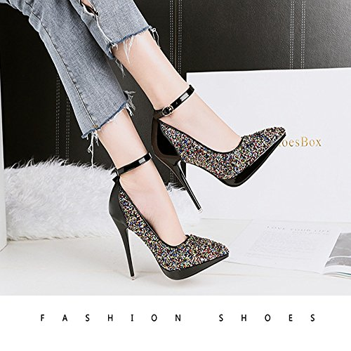 Parties Heels Heels High Mouth And Colors Single GAOLIXIA 5 Optional Ladies Autumn Shoes Spring Shiny Pointed High Fashion Shallow Color OwZqSwY