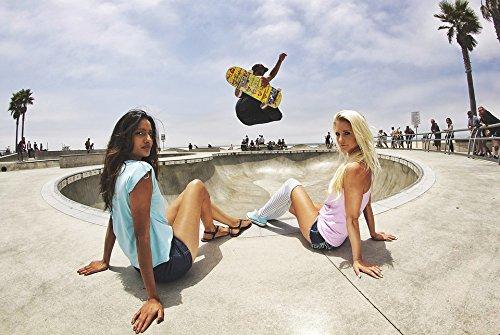Pipes Skatepark - Home Comforts Laminated Poster Jump Boy Skater Skateboard Half-Pipe Skate Park Poster Print 24 x 36