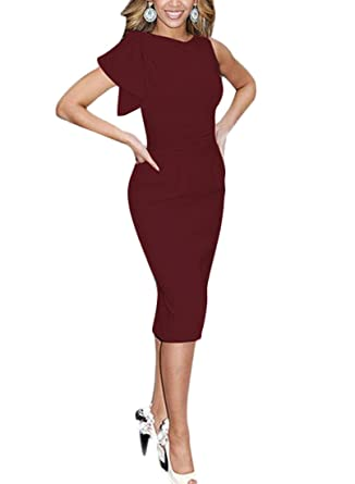 REPHYLLIS - Robe - Crayon - Manches Courtes - Femme XX-Large - Rouge ... 6efe73ff2e01