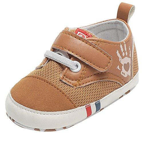 Boys Girls Shoes Palm Print Anti-Slip Footwear Crib Shoes 0-18 M ()