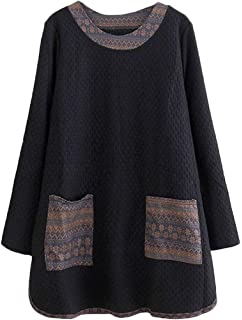 0d8905f7355e0 Mordenmiss Women s Daily Knitwear Spring Loose Sweater Dress L Gray ...