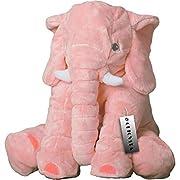 CHICVITA Pink Large Stuffed Elephant Plush Animals Toys, 24 Inches Cushion Plush Toy
