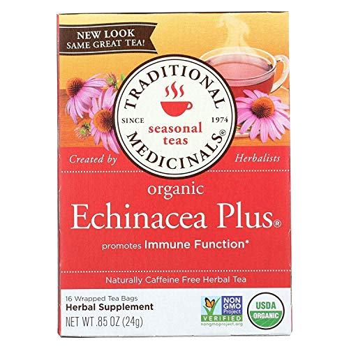 Traditional Medicinals Tea Echinacea Plus Org (Pack of 3)