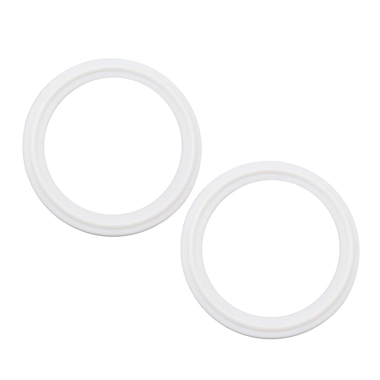 QiiMii Teflon (PTFE) Tri-Clamp Gasket O-Ring - 2 Inch Style Fits OD 64MM Sanitary Pipe Weld Ferrule (Pack of 2)