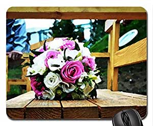 Wedding Bouquet Mouse Pad, Mousepad (Flowers Mouse Pad, Watercolor style)