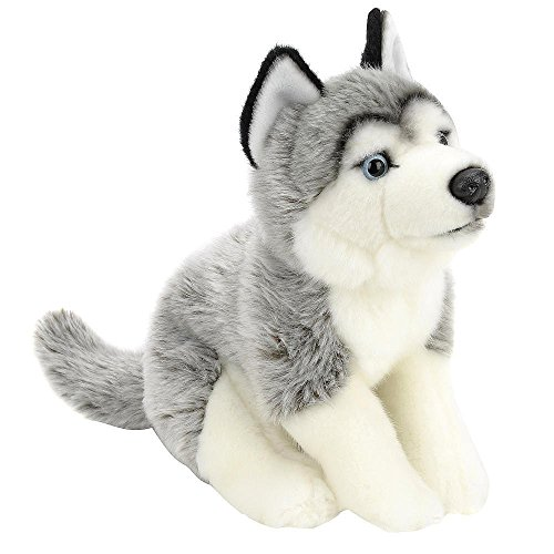 Animal Alley - 10 inch Stuffed HUSKY Gray and White - Has Soft Gray and White Fur. He's a Fantastic Snuggler!
