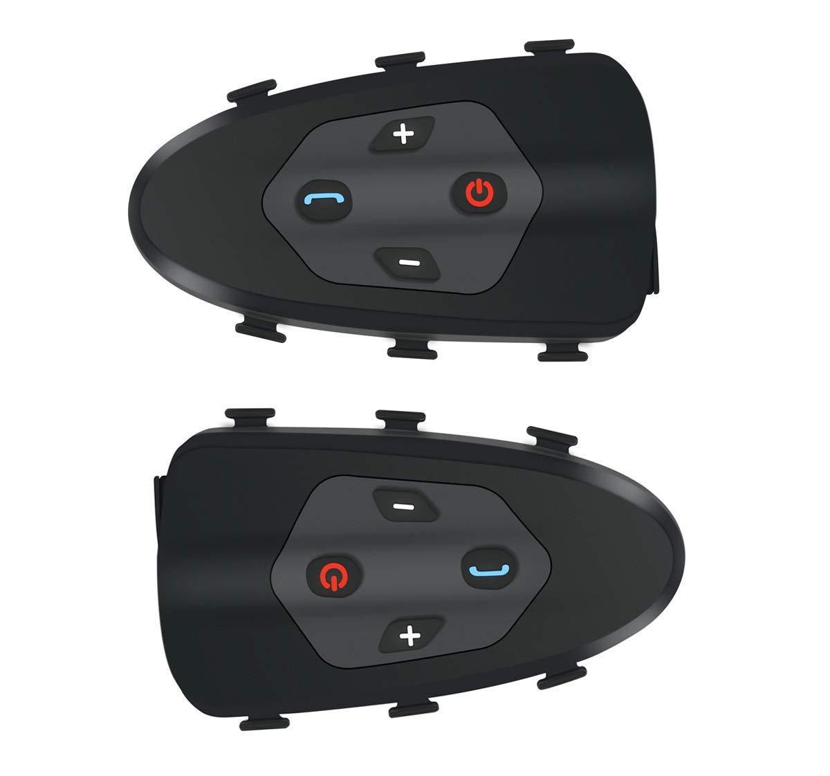 Bicycle Walkie-Talkie Bluetooth Headset Wireless Communication System IP65 Waterproof 1200M Intercom Distance Bicycle Helmet Dedicated (1 Pack) by SYNL