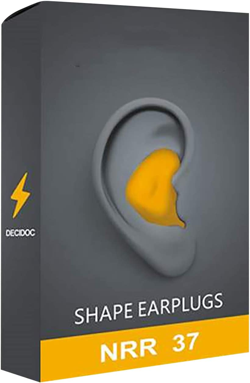 INSOLKIDON Customize Deformation Sleeping Ear Plugs, Soundproof Cotton Noise Reduction Hearing Protector, Earplugs for Sleeping, Studying, Swimming, Travel,Office Noise Reducing Ear Plugs (Yellow)
