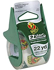 """Duck Brand EZ Start Packaging Tape with Dispenser, 1.88""""x22.2 yd Roll, Single Roll, Clear (285886)"""