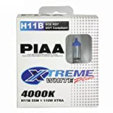 Automotive : PIAA 15411 H11B Xtreme White Plus High Performance Halogen Bulb, (Pack of 2)