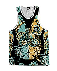INTO THE AM Gearhead Men's All Over Print Tank Top (Small)