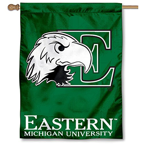 College Flags and Banners Co. Eastern Michigan University Eagles House Flag
