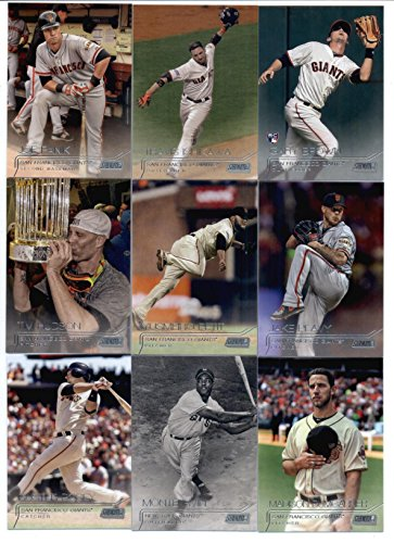 (2015 Topps Stadium Club Baseball Cards San Francisco Giants Team Set (12 Cards- World Series Champions) Including Madison Bumgarner, Hunter Pence, Buster Posey, Joe Panik)