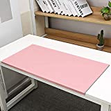 Non-Slip Soft Leather Surface Office Desk Mouse Mat Pad with Full Grip Fixation Lip Table Blotter Protector 27.55'x 15.8' Leather Pad Edge-Locked