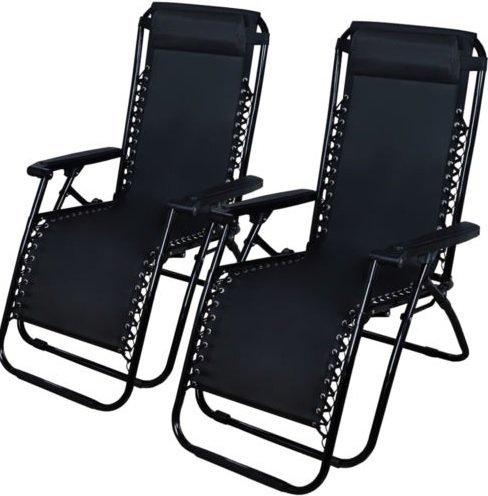 2 Outdoor Zero Gravity Lounge Chair Beach Patio Pool Yard