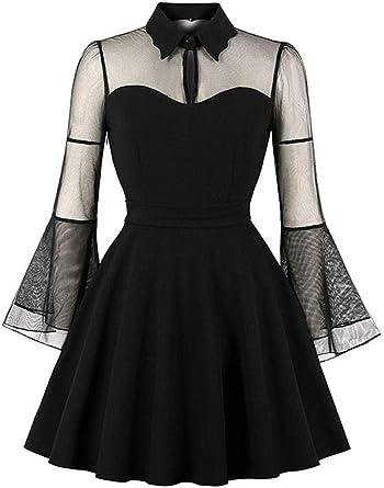 Flare Sleeve High Waist Formal Cocktail Dress