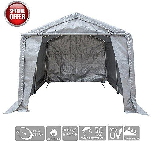 Cheap  KdGarden 10 x 10 Feet Heavy Duty Portable Outdoor Storage Shelter Versatile..