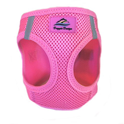 CHOKE FREE REFLECTIVE STEP IN ULTRA HARNESS - PINK - ALL SIZES - AMERICAN RIVER (Large) by Doggie Design