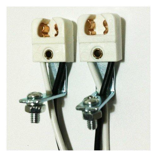 - T5 Miniature Bi-Pin Single Lamp Holder Long Right Angle Bracket Mount (1 Pair)
