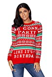 Product review for Bdcoco Women's Birthday Party Snowflake Knit Pullovers Christmas Sweater
