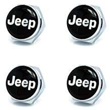 """Automelody ® 4Pcs Front & Rear Chrome LICENSE PLATE FRAME Bolts Fasteners Screws For Jeep + GIFT """"SWING"""" PACKING BAG (type2)"""