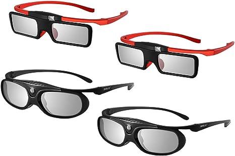 Boblov JX-30 - Gafas 3D DLP-Link 96Hz/144Hz Active Shutter con USB ...