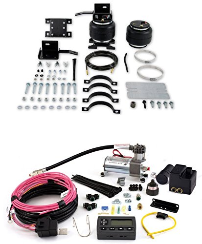 Air Lift 57205/72000 Set of Rear Load Lifter 5000 Series w/Wireless AIR Dual Path On-Board Air Compressor System Kit for Savana/G35/G30/Express