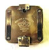 STREET CRAFT Kelvin & Hughes Natural Sine Brunton 1917 Compass Brass Mining Compasses, Brass Pocket Compass Outdoor Navigation Tools.