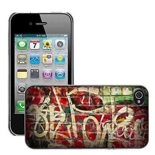 Premio Sottile Slim Cassa Custodia Case Cover Shell // V00002257 Graffiti // Apple iPhone 4 4S 4G