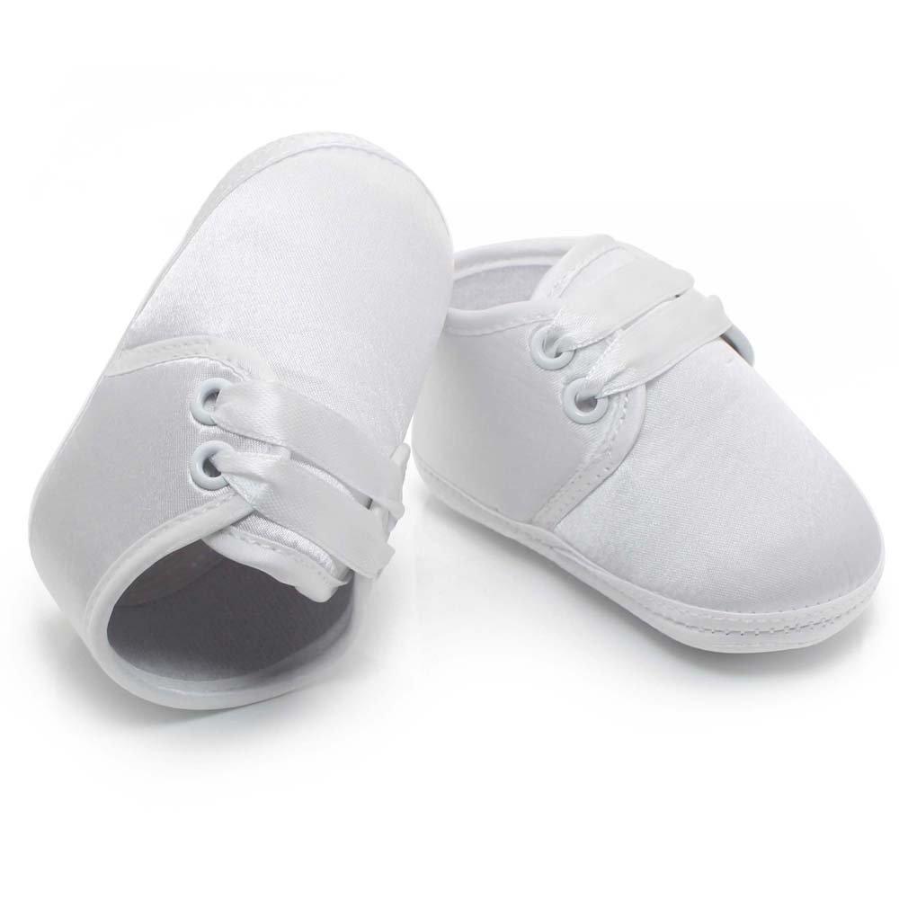 5919d3ba5ee96 DELEBAO Bébé Fille Blanc Chaussures en d espadrille Anti-Dérapant Chaussure  Bapteme Bébé Semelle Souple Chaussure de Marche Fille  Amazon.fr  Chaussures  et ...