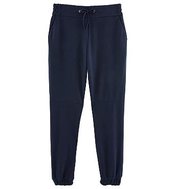 c0bf7f38ed48b8 Promod Pantalon jogpant Urbain Femme Marine 34: Amazon.fr: Vêtements ...
