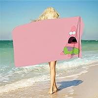 JXSMYT Toalla de playa de Bob Esponja, resistente a la arena, de secado rápido, compacta, de microfibra, toalla de baño…
